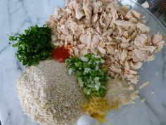 makings of tuna patties