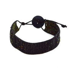 Green Gradient Beaded Wrap Bracelet | www.MegansBeadedDesigns.com