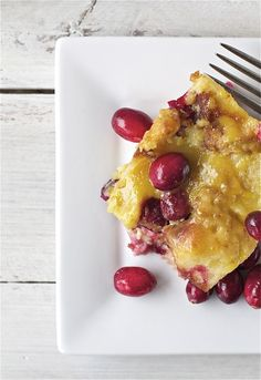 Cranberry Orange Bread Pudding. Get the Recipe | Bright Bold and Beautiful