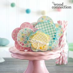 Wood Spring Stacking Flowers