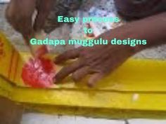 Stencil Designs Paintings to Gummalu or gadapa with calmin colours online Painting Rangoli Design, Rangoli Kolam Designs, Muggulu Design, Simple Rangoli, Stencil Designs, Door Design, Stencils, Colours, Entrance