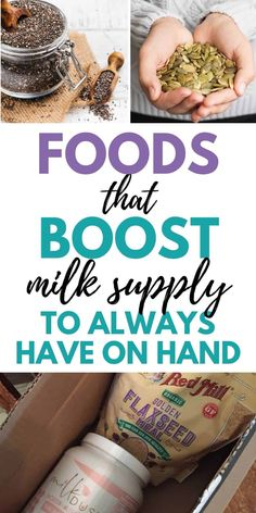6 Foods to Boost Milk Supply (to always have on hand) - Birth Eat Love Boost Milk Supply, Increase Milk Supply, Breastfeeding Nutrition, Breastfeeding And Pumping, Lactation Recipes, Lactation Foods, Postpartum Diet, Birth, Eat