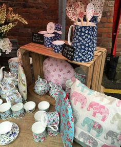 Willow Bell at Knutsford Makers Market, Staffordshire Fine Bone China, Tea Cosies, Cushions and Bags