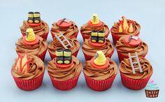 Fire Brigade Themed Cupcakes