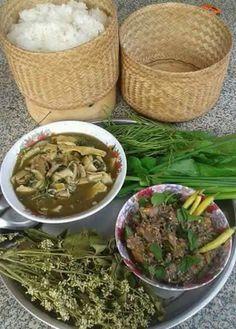 Traditional Lao food.