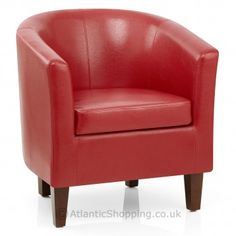 Cosy up this Valentine's in the comfortable Tub Chair Red.