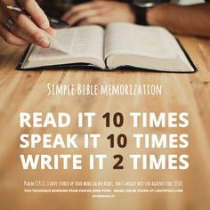 You can memorize big chunks, even books, of the Bible. Here are ten reasons to commit more than Bible verses to memory, and how to do it. Bible Scriptures, Bible Quotes, Bibel Journal, Scripture Study, Scripture Memorization, Life Quotes Love, Word Of God, Beautiful Words, Helpful Hints