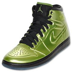 best cheap 36a8c 2c7b4 NIKE AIR JORDAN 1 AJ ANODIZED ARMOR GREEN BLACK 414823 301  220