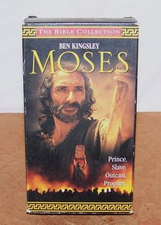 Moses - VHS - 1996 - Epic 2 Tapes Set - Ben Kingsley - The Bible Collection