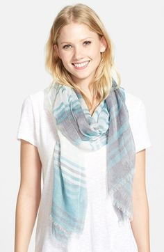 Nordstrom Striped Modal & Silk Scarf available at #Nordstrom