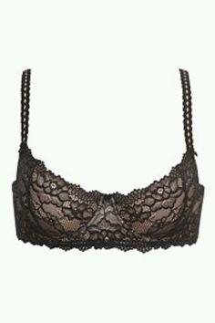 Black and Nude Lace Demi Bra #IAmTorrid