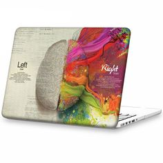 """Amazon.com: iCasso Art Image Series Ultra Slim Light Weight Hard Case Glossy Clear Crystal Snap-On Hard Cover Case for MacBook Pro 15"""" Retina Display (Model: A1398) - Left and Right Brain: Computers & Accessories"""