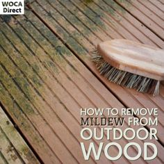 Outdoor Wood Projects, Wooden Decks, Wood Surface, Eco Friendly, How To Remove, Exterior, Plants, House, Wood Decks
