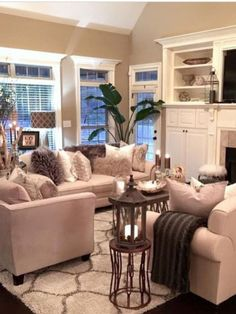 Modern And Elegant Living Room Design Ideas For Small Space – Home Decor Ideas Cozy Living Room Warm, Fall Living Room, Comfortable Living Rooms, Elegant Living Room, Formal Living Rooms, Living Room Sets, Home And Living, Living Room Designs, Living Room Furniture
