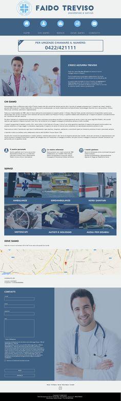 Bozza grafica per sito Croce Azzurra Treviso. Restyling grafico. Powered by www.jellyfishdesign.it
