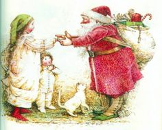 Santa meets Hollie Hobbie