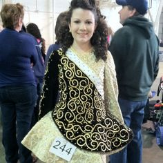 Luke's sweet little Miss Hollie in her Irish step dancing solo costume - gorgeously stunning!!!