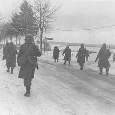 The 101st Airborne moving out of Bastogne. Great picture quality