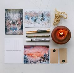 Illustrated postcards by Ulla Thynell