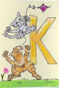 """""""K"""" is for Kittens and a Kite"""