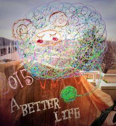 2015/1/16掲載 「みなちん」さんによるイラスト。年賀状もこの羊ちゃんだったそうです。  https://www.facebook.com/kitpas2005  #kitpas #キットパス