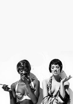 Naomi Campbell and Christy Turlington photographed by Steven Meisel for Vogue…