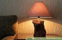 Image titled Make Tree Trunk Lamp Step 14