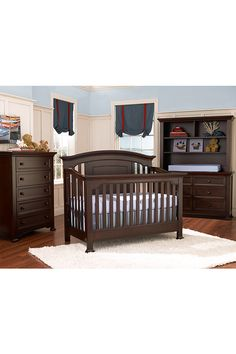 Kingsley Brunswick Collection in Espresso  #kingsley #crib #nursery