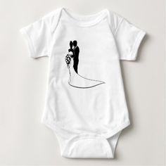 Bride and Groom Husband Wife Wedding Silhouette Baby Bodysuit - bridal gifts bride wedding marriage