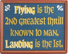 Flying Sign | Funny Pilot Sign | Aviation Wall Decor