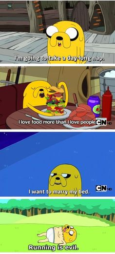 I love Jake (Adventure Time)<<< Jake is my spirit animal---bruh me too Adventure Time Quotes, Jake Adventure Time, Adventure Time Characters, Life Adventure, Adveture Time, Time Art, Dog Body Language, Land Of Ooo, Finn The Human