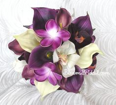 Real touch Calla Lilies Orchids and by BloomBridalCreations, $127.00 - these are so freaking beautiful, not that I would want anyone to spend that much on flowers....
