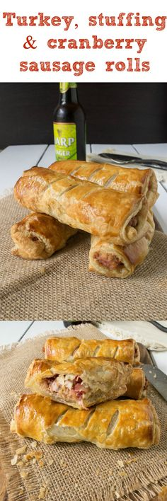 The perfect use for Thanksgiving leftovers all wrapped up in flakey puff pastry.