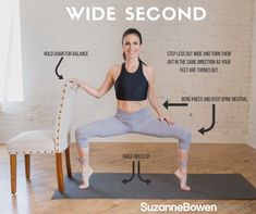 Wide Second Position Barre These 5 Barre workout moves will have your muscles shaking and leave you feeling refreshed and energized. Make sure to listen to your body and take breaks Ballet Barre Workout, Barre Moves, Barre Workout Video, Barre Exercises At Home, Cardio Barre, Butt Workout, Ballerina Workout, Barre Fitness, Fitness Exercises
