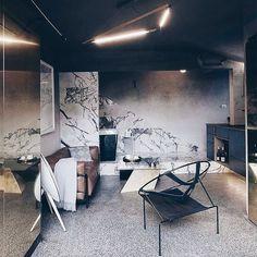 Sleek interior by Melbourne's Studio Edwards Moore. Photo @dezeen.
