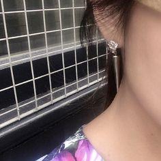 Riya silver earrings | Edge of Ember | Silver spiked drop earrings