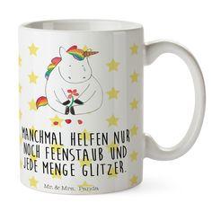 Tasse Einhorn Traurig aus Keramik  Weiß - Das Original von Mr. & Mrs. Panda.  Eine wunderschöne Keramiktasse aus dem Hause Mr. & Mrs. Panda, liebevoll verziert mit handentworfenen Sprüchen, Motiven und Zeichnungen. Unsere Tassen sind immer ein besonders liebevolles und einzigartiges Geschenk. Jede Tasse wird von Mrs. Panda entworfen und in liebevoller Arbeit in unserer Manufaktur in Norddeutschland gefertigt.    Über unser Motiv Einhorn Traurig  Ein wunderschönes Einhorn aus der Mr. & Mrs…