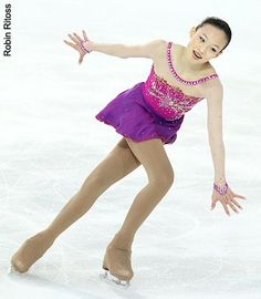 Christina Gao  -Purple/Lilac Figure Skating / Ice Skating dress inspiration for Sk8 Gr8 Designs.