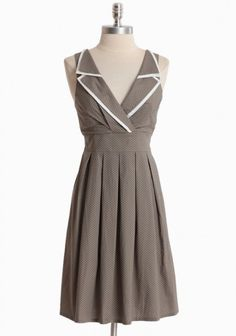 Moonlit Walk Polka Dot Dress By Pink Martini   Modern Vintage Dresses