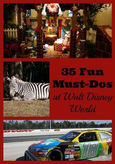 Fun Must-Dos at Walt #Disney World - a nice list!
