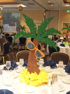 Trunk Monkey Commercial >> Palm Tree Centerpieces - made from pvc piping; artificial ...