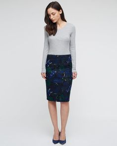 Woodblock Pencil Skirt - If only they had my size left!