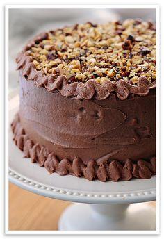 Chocolate Hazelnut Cake it's like a huge Ferrero Rocher