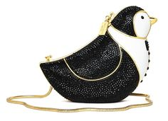 Kate Spade never fails to deliver on whimsy and quirk each season and her holiday 2016 collection is no exception. The collection was inspired by a trip Chief Kate Spade Handbags, Kate Spade Purse, Cute Purses, Purses And Bags, Unique Purses, Fashion Handbags, Fashion Bags, Womens Fashion, Penguins