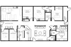 Chiropractic Office Floor Plans | Pinterest | Doctor office ...