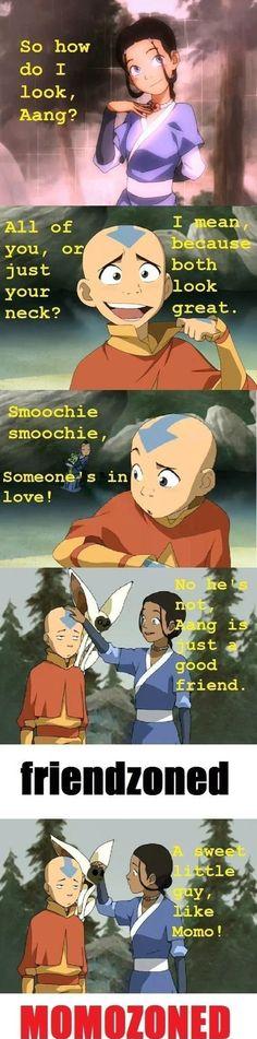 Haha poor Aang!