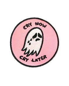 "Cry it out, now and forever.Embroidered patch on twillIron-on backingMeasurements: 2.5"" diameterBy Sara M. Lyons"