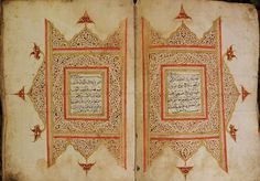 A monumental 'Javanische' Qur'an: Handwritten on European strong paper in very neat Naskhi scripts, originated from the Island of Java in late cent or early cent AD . African Symbols, Javanese, Handwriting, Christianity, Bohemian Rug, Vintage World Maps, Arts And Crafts, Typography, Scripts