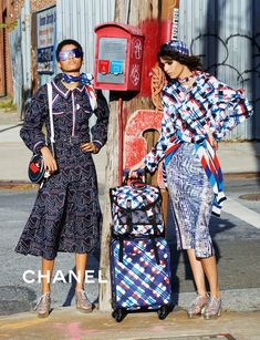 Lineisy Montero and Mica Arganaraz pose by Karl Lagerfeld for Chanel Spring 2016 Ad campaign