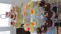 margarita, stroompwaffel cupcake,nugat cupcake..